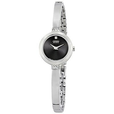 Citizen Eco-Drive Women's EW9920-50E Crystal Accents Black Dial Watch