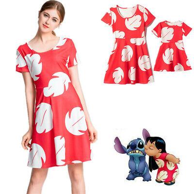 Familie Mutter und Tochter Lilo & Stitch Urlaub Cosplay Kostüm Kleid Halloween