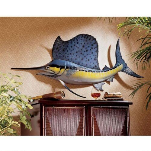 4 FT Nautical Decor Marine Sailfish Sword Fish Ocean Trophy Sculpture Home Decor