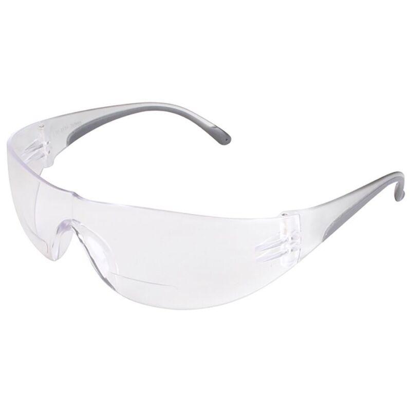 Bouton Zenon Z12R Bifocal Safety Glasses Black Temple Trim Clear Lens