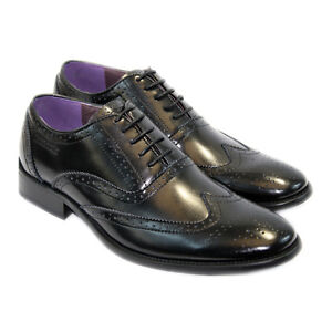 LAMBRETTA MENS LEATHER SMART SHOES ITALIAN DESIGNER  FORMAL OFFICE SUIT WEDDING