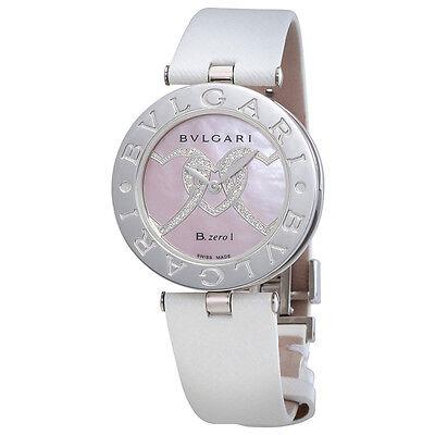 Bvlgari B.zero1 Pink Mother Of Pearl With Heart Motif Dial Quartz Ladies Watch