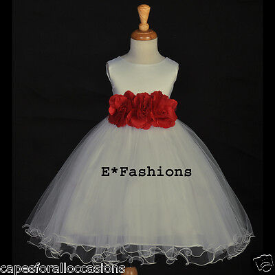 GORGEOUS IVORY NEW FLOWER GIRL DRESS MULTI COLORS CHOICE 12 months 2 4 6 8 10 12 - Gorgeous Flower Girl Dresses