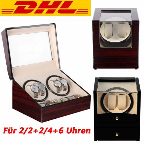 2/2+2/4+6 Uhren Uhrenbox Automatisch Uhrenbeweger Holz sanders Watchwinder Box
