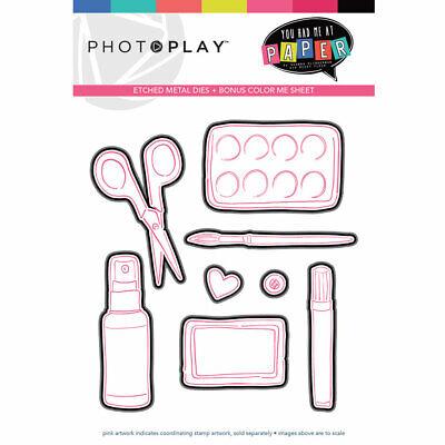 Scrapbooking Crafts Dies You Had Me At Paper Scissors Spray Glue Paint Brush -
