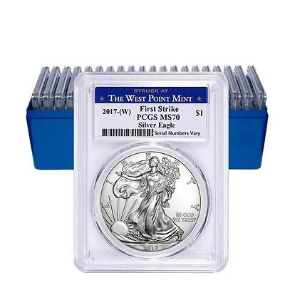 Sale Price - Lot of 20 - 2017-W 1 oz Silver American Eagle $1 Coin PCGS MS 70 Fi