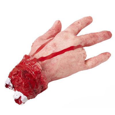 BLUTIGE KÖRPERTEILE # Halloween Abgehackte Abgetrennte Menschen Hand Deko 81604