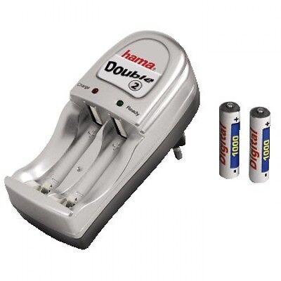Hama 014058 Cargador de pilas Automático + 2 Pilas NiMH - AAA...
