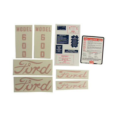 D-6005557 Decal Set Fits Ford Tractor 600 1955 To 1957