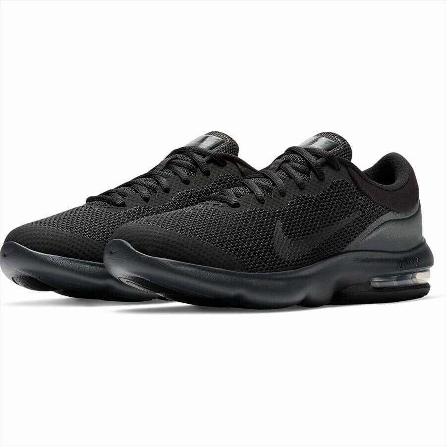 bbc54798ca3 Nike Air Max Advantage Running Shoes Triple Black 908981-002 Men's NEW