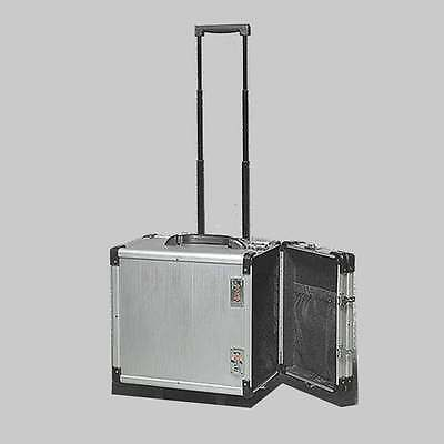 Aluminum Jewelry Carrying Case W Wheels Combo Lock Box 6 38 X 9 38 X 13 12