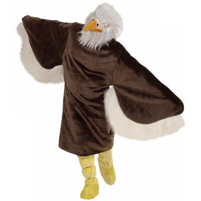ADLER PLÜSCH KOSTÜM Karneval Vogel Sport Maskottchen Herren Verkleidung M/L 4488