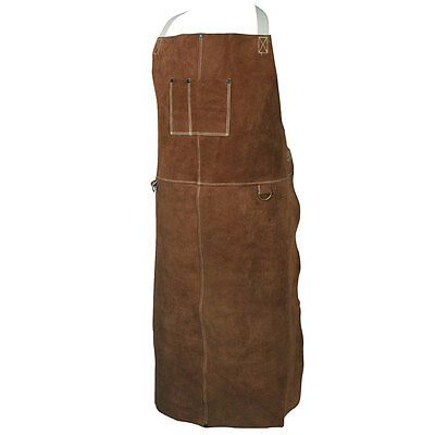 Caiman 5148 Welding Apron Bib Style Welding Apparel Genuine Cowhide 48 Long
