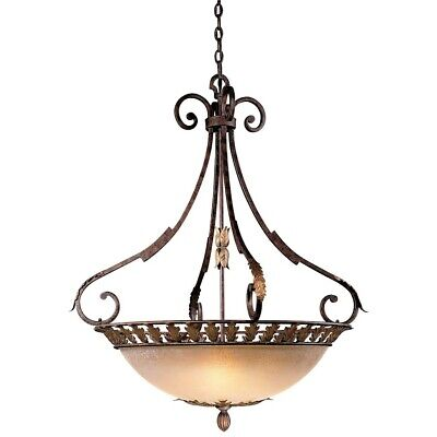 Golden Bronze Bowl Pendant - Minka Metropolitan Zaragoza 5 Light Bowl Pendant, Golden Bronze - N6242-355