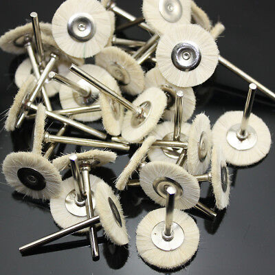 50 Pcs 3.0mm White Polishing Polisher Brush Wheel Tool Jewelry Dental