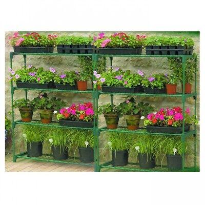Gardman Steel Garden Greenhouse Storage & Shelving Staging - Double Pack