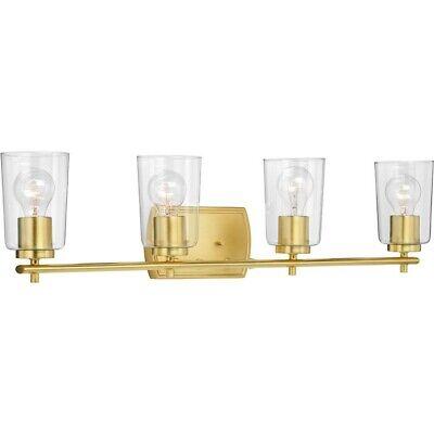 Progress Lighting Adley Four-Light Bath & Vanity, Satin Brass - P300157-012 Satin Brass Bath Light