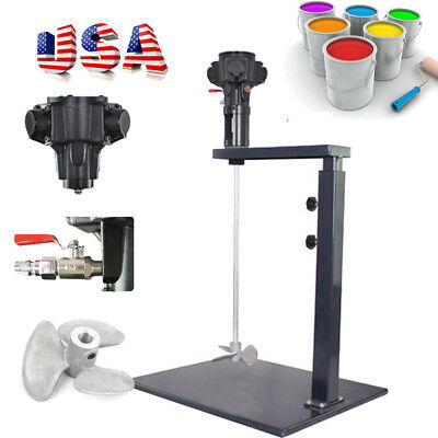 5 Gallon Pneumatic Mixer Machine Paint Ink Coating Mixing Industry Alloy Vane