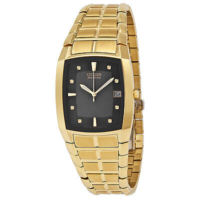 Citizen Mens Eco Drive Gold-tone Stainless Steel Watch BM6552-52E