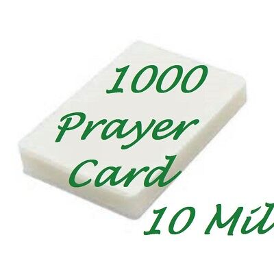 1000 Prayer Card Laminating Pouches Sheets 10 Mil 2 3 4 X 4 1 2  Scotch Quality