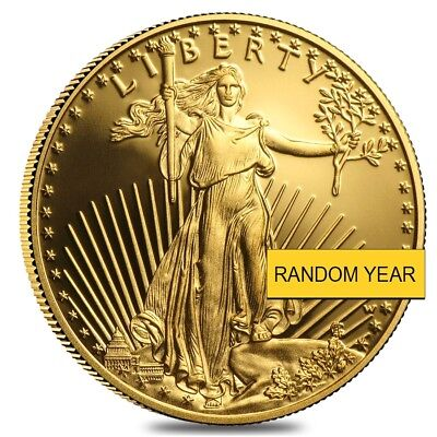 1/2 oz Proof Gold American Eagle In Cap (Random Year)