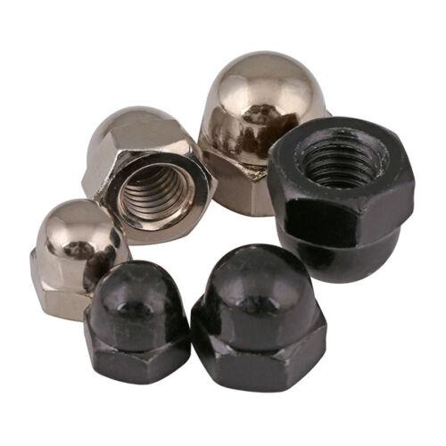 M3 M4 M5 M6 -M12 Nickel/Black Carbon Steel Blind Nut Ball Knobs HEX Acorn Nuts