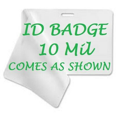 100 Id Badge 10 Mil Laminating Pouches Laminator Sheets With Slot 2.56 X 3.75
