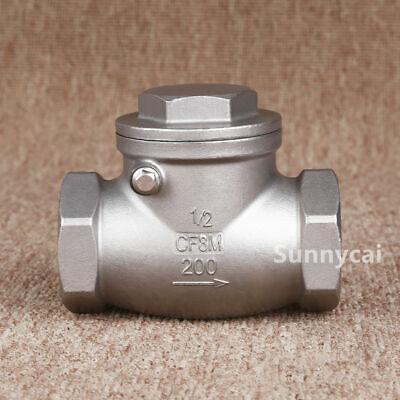 Swing Check Valve 12 Inch Npt Non-return Stainless Steel 304 Water Oil Gas