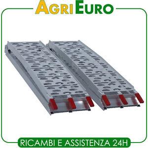 Coppia rampe di carico curve 226 cm pieghevoli in for Rampe pieghevoli alluminio
