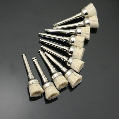New 50 Pcs Dental Bowl Type Bristles Latch Flat Polishing Polisher Prophy Brush