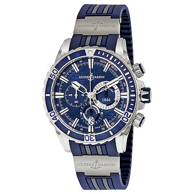 Ulysse Nardin Marine Diver Automatic Mens Chronograph Watch 1503-151-3/93