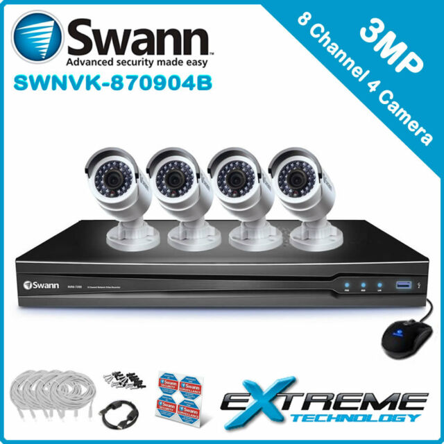 Swann NVR8-7090 8 Channel 3MP NVR with 4 x NHD-835 3MP Cameras - SWNVK-870904B