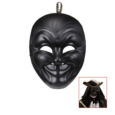 VENEZIANISCH HALB MASKE schwarz Karneval Venedig Barock Maskenball - Maskerade Maske Schwarz