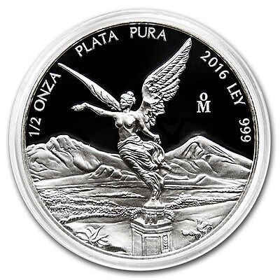 ***SALE*** PROOF LIBERTAD - MEXICO - 2016 1/2 oz Proof Silver Coin in Capsule