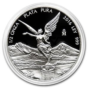 SALE-PROOF-LIBERTAD-MEXICO-2016-1-2-oz-Proof-Silver-Coin-in-Capsule