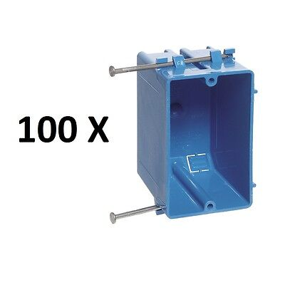 100x Single-gang 18-in Wall Outlet Light-switch New-work Plastic Electrical-box