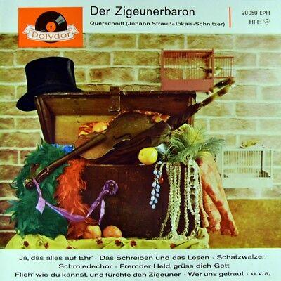 "7"" JOHANN STRAUSS Der Zigeunerbaron KÄTHE SCHWEDOWSKY POLYDOR EP 1960 NEUWERTIG!"