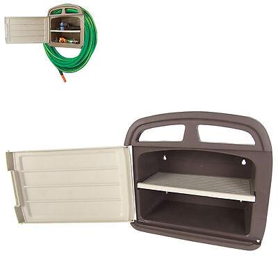 Wandschlauchhalter mit Staufach - Halterung Gartenschlauch Garten Schlauchhalter