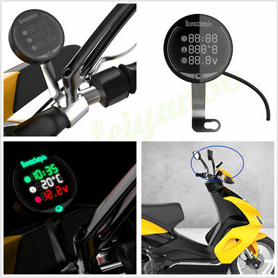 3IN1 MULTI FUNCTION LCD MOTORCYCLE ATV CROSS BIKE VOLTAGE TEMPERATURE
