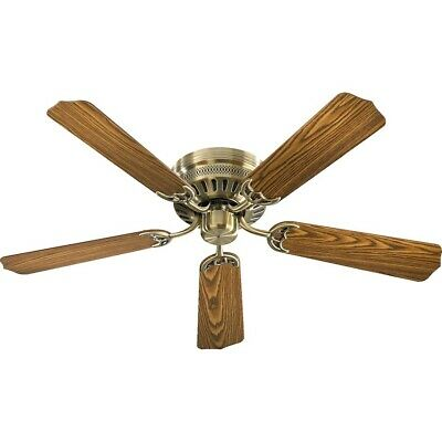 Quorum Custom Hugger Ceiling Fan, Antique Brass - 11525-4