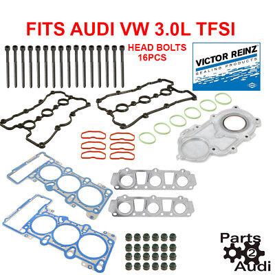 AJUSA Engine Cylinder Head Bolt Set 16 Bolts For Audi VW 3.0L TFSI