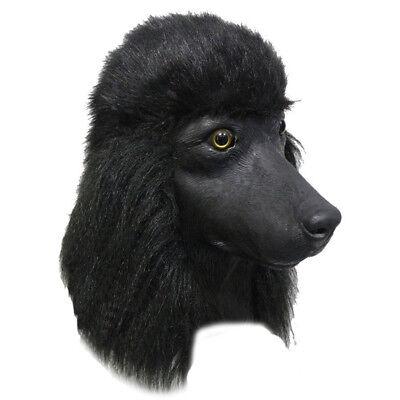 Realistic Animal Mask Black Poodle Dog Latex Mask For Christmas Cosplay Costume