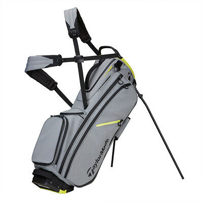 TaylorMade FlexTech Crossover Yarn Dye Stand Golf Bag 2020 - Silver Gray/Black