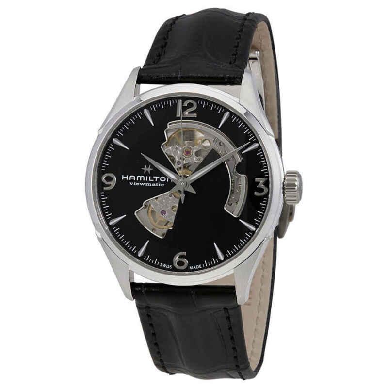 Hamilton Jazzmaster Automatic Open Heart Black Dial Men Watch H32705731