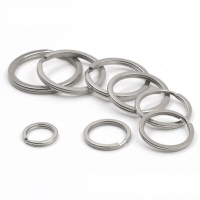 10x Key Rings-Dia 15MM/20MM/25MM/28MM/30MM/35MM-304 Stainless Steel US