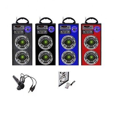 Pure Portable Karaoke Machine Mic for Smartphone 2 Twin Speakers Ipod Mp3 Bass