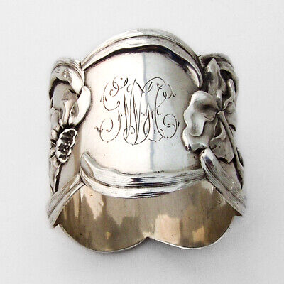 Towle Narcissus Napkin Ring Sterling Silver 1900s Mono