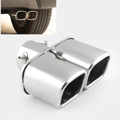 Ford Aerostar Bumper Cover (Dual Outlet Exhaust Muffler Tip Chrome Steel Compact Car Tail Pipe Cover)