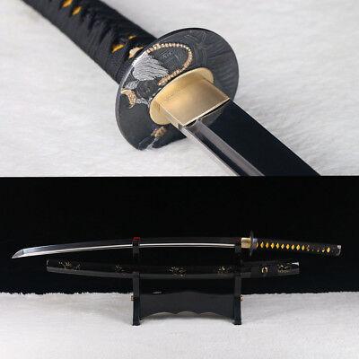 (Handmade high carbon steel Japanese Katana Sword full tang razor sharp blade.)