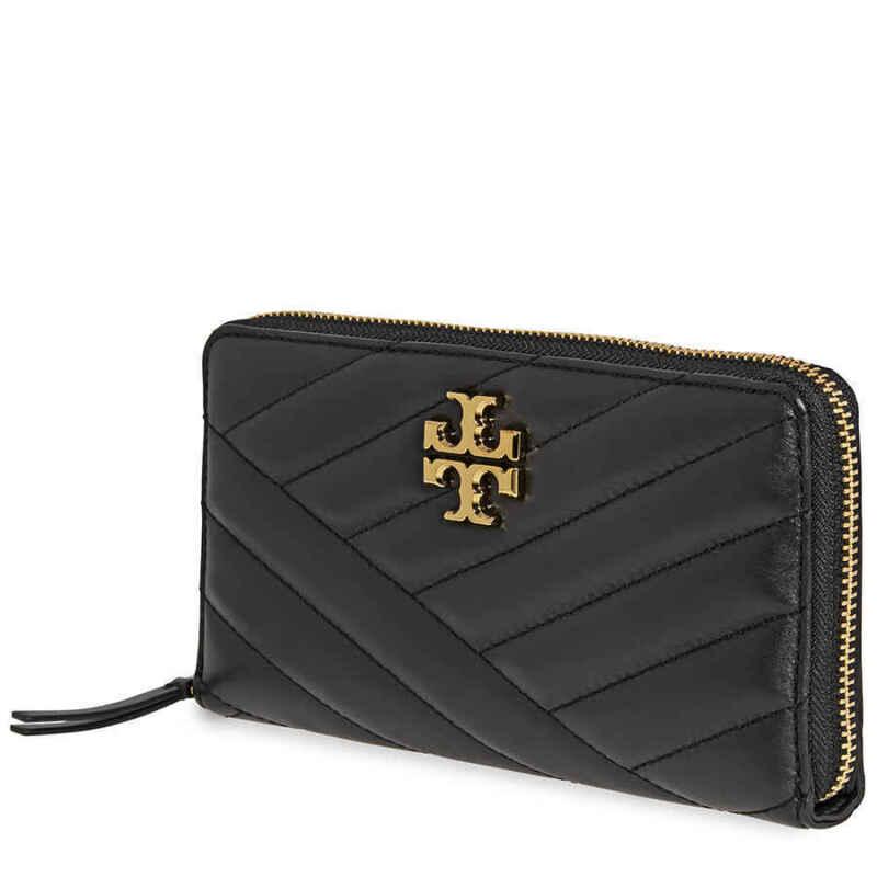 Tory Burch Kira Chevron Zip Continental Wallet- Black 56605-001